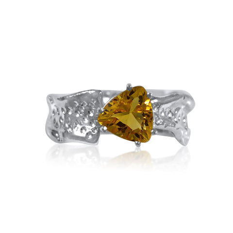Ripple Ring Builder - 8mm Trillion Cut Citrine_by Kristen Baird®
