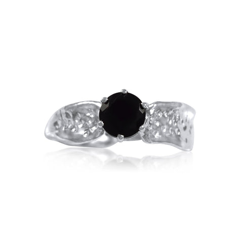 Ripple Ring Builder - 6mm Round Cut Onyx_by Kristen Baird®