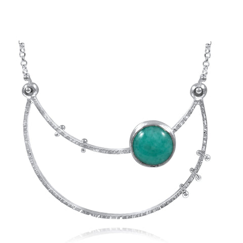Crater Necklace - Large - Amazonite - by Kristen Baird®