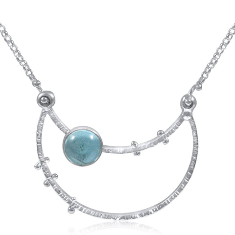 Crater Necklace (medium) - Blue Topaz by Kristen Baird®
