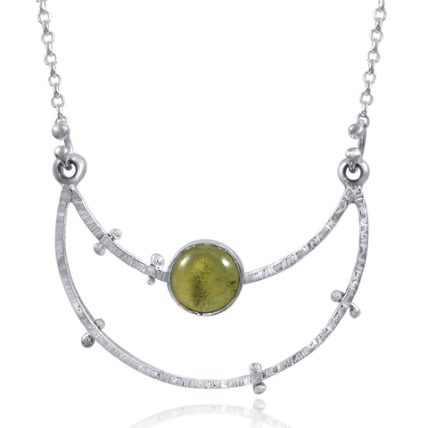 Crater Necklace (medium) - Lemon Quartz by Kristen Baird®