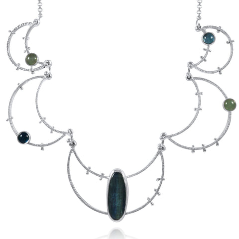 Crater Necklace Statement - Dusk - by Kristen Baird®