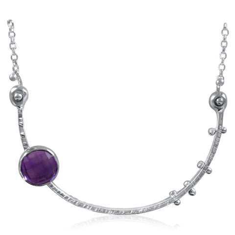 Crescent Necklace Amethyst by Kristen Baird®