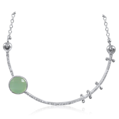 Crescent Necklace Aqua by Kristen Baird®