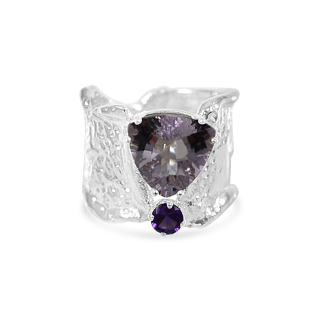 Ripple Ring - Amethyst Duo