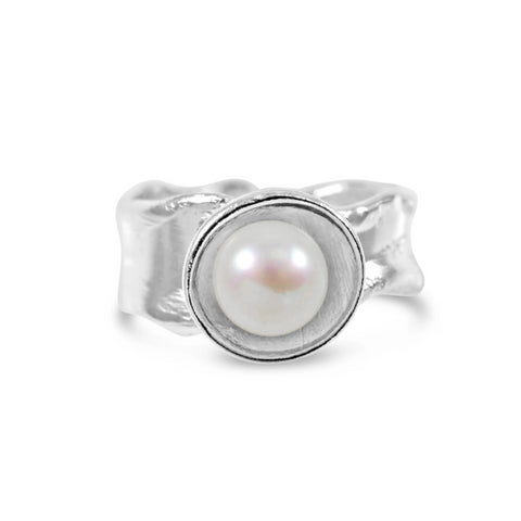 Pearl Ripple Ring