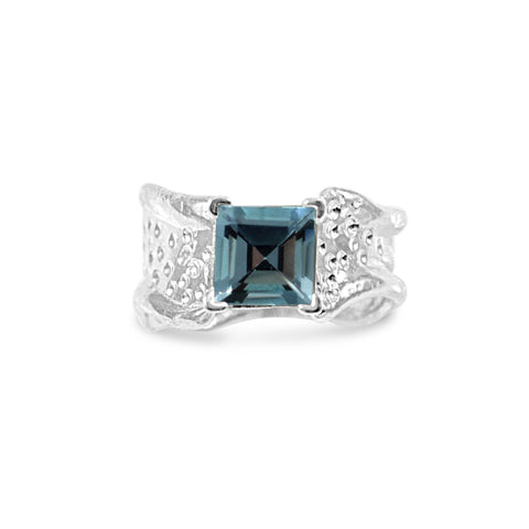 Ripple Ring - Sky Blue Topaz