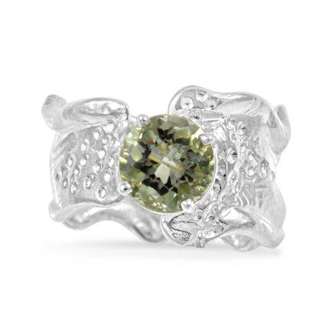 Ripple Ring - Green Amethyst