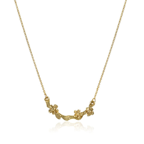 Fleur Precieuse 18K Yellow Gold Necklace_Kristen Baird
