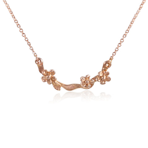 Fleur Precieuse Necklace in Rose Gold by Kristen Baird®