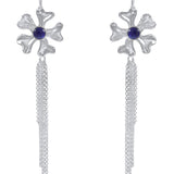 Fleur de Cerisier Longue Fringe Earrings_Iolite_Kristen Baird®