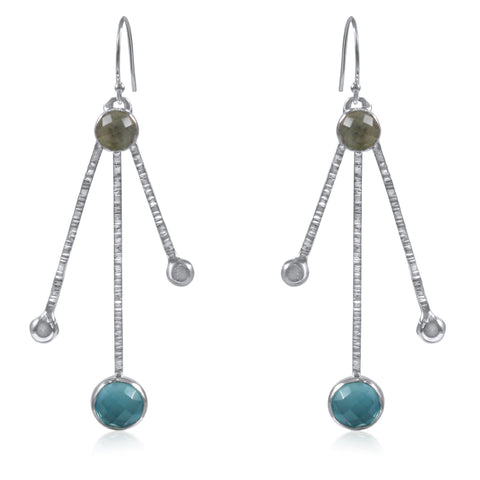 Galaxy Earrings - Blue Green - by Kristen Baird®