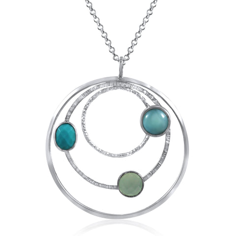 Orbit Necklace (Large) Blues - by Kristen Baird®