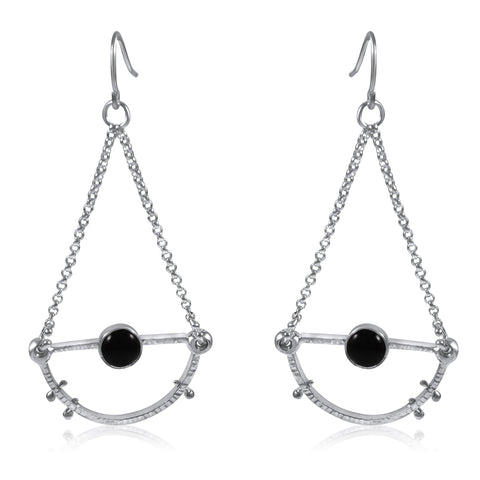 Half Moon Earrings Small - Onyx - by Kristen Baird® Jewelry