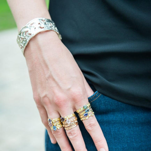 "Kristen Baird rocking her 1"" Splash Cuff"