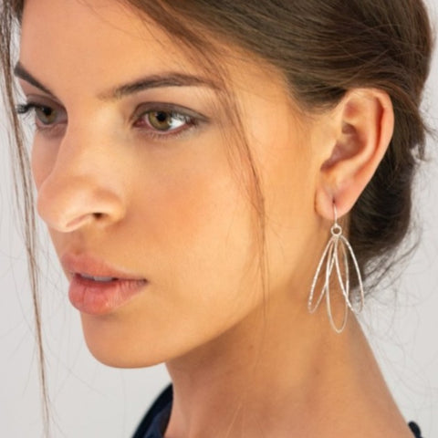 Lunar Ring Hoops on Model_Kristen Baird®