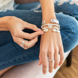 Mini Pearl Splash Bangle