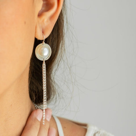 Pearl Fringe Earrings