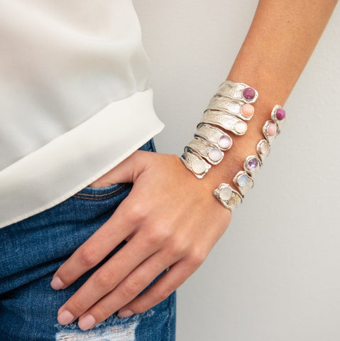 Splash Gem Cuffs on Model_Kristen Baird®