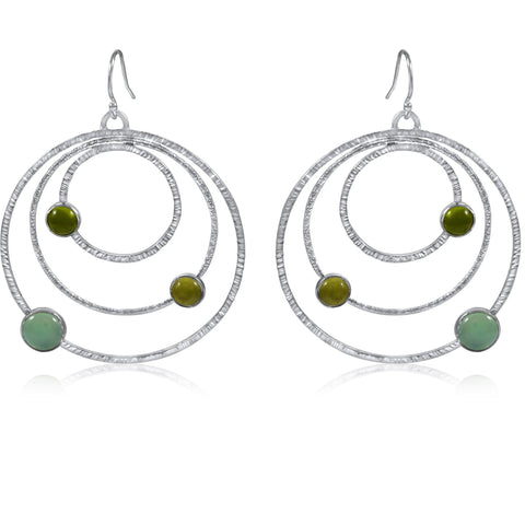 Large Orbit Earrings - Light Green - by Kristen Baird®