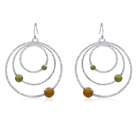 Large Orbit Earrings Yellow by Kristen Baird®