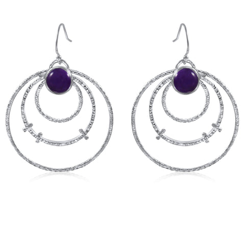 Medium Orbit Earrings Amethyst by Kristen Baird®