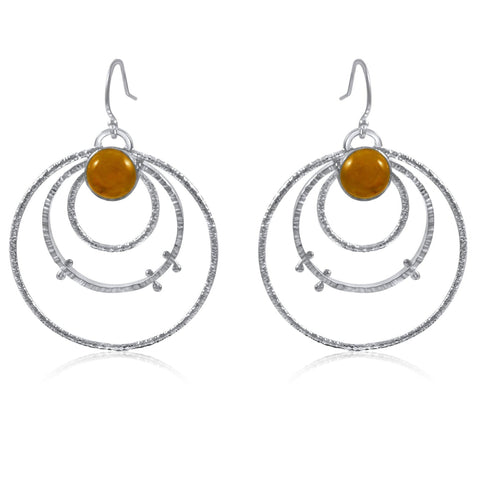 Medium Orbit Earrings Citrine by Kristen Baird®