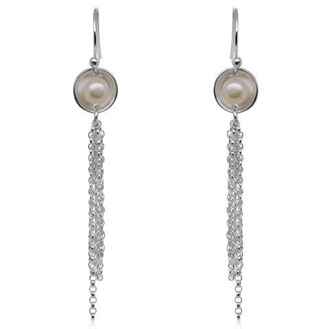 Mini Pearl Fringe Earrings by Kristen Baird®