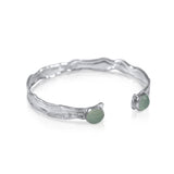 Mini Splash Cuff_Peru Chalcedony by Kristen Baird®