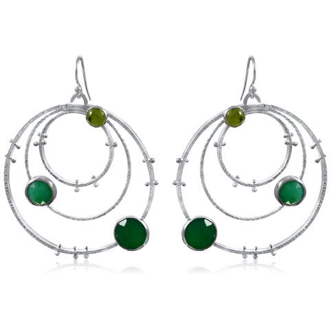 Orbit Earrings Large - Dark Green - by Kristen Baird®