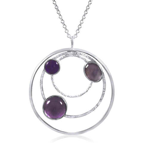 Orbit Necklace (Large) Purple - by Kristen Baird®