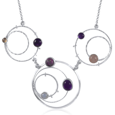 Orbit Necklace Statement - Purples - by Kristen Baird®