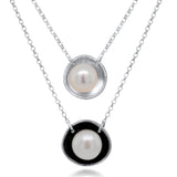 Pearl Necklace_White Pearl_with and without Patina_Kristen Baird®