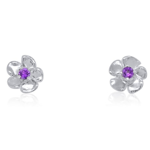 Petit Lavande Gem Stud Earrings_Amethyst_by Kristen Baird®