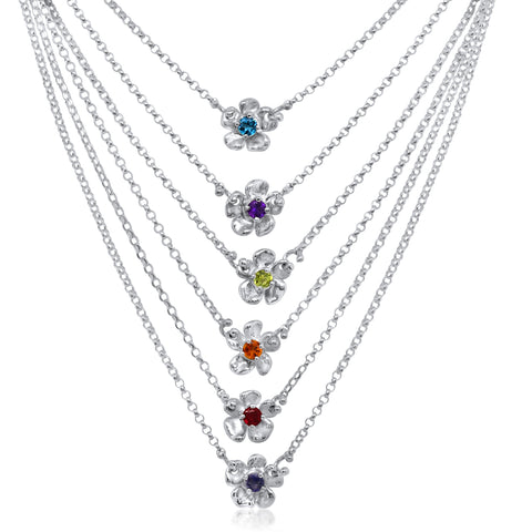 Petit Lavande Gem Necklace