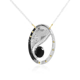 Current Necklace Onyx - Fewer Granules