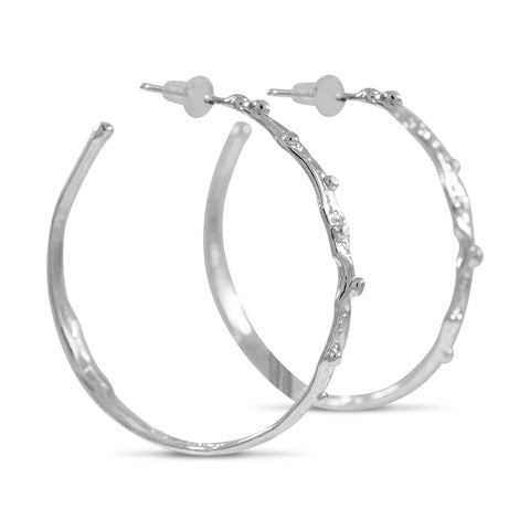 Large Ripple Hoop Earrings - by Kristen Baird®
