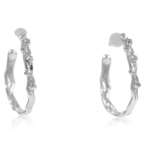 Medium Ripple Hoop Earrings - by Kristen Baird®