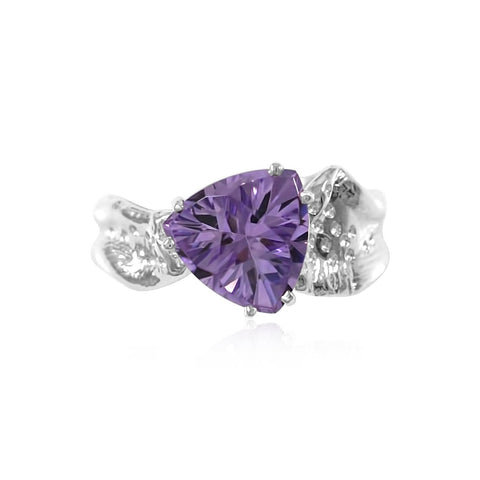 Ripple Ring Builder - 10mm Trillion Cut Amethyst_by Kristen Baird®