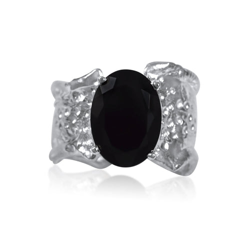 Ripple Ring Builder - 10x12mm Onyx - by Kristen Baird®