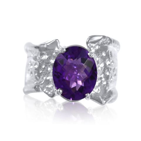 Ripple Ring Builder - 10x12mm African Amethyst - by Kristen Baird®