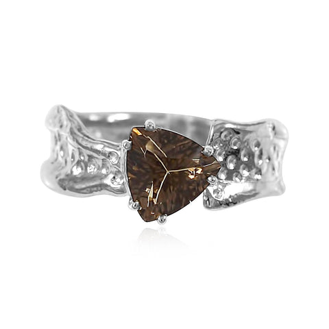 Ripple Ring Builder - 8mm Trillion Cut Smoky Quartz_by Kristen Baird®