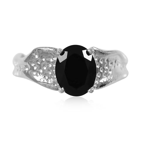 Ripple Ring 8x10mm Oval Cut Onyx Ring by Kristen Baird