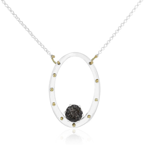 Serenity Necklace Rutilated Quartz by Kristen Baird, Savannah Jewelry Designer