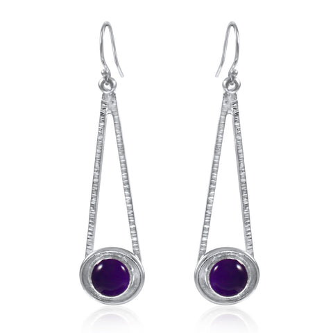 Shooting Star Earrings - Amethyst - by Kristen Baird®