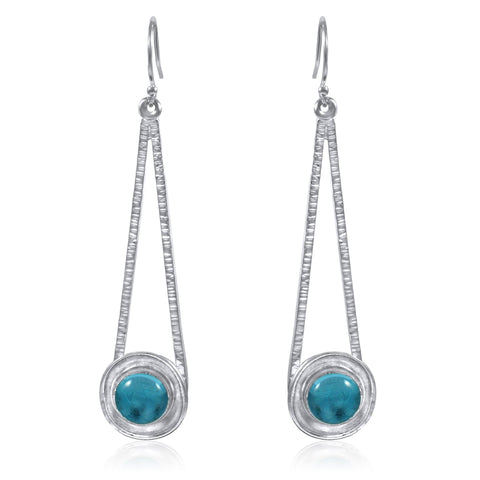 Shooting Star Earrings - Blue Topaz - by Kristen Baird®