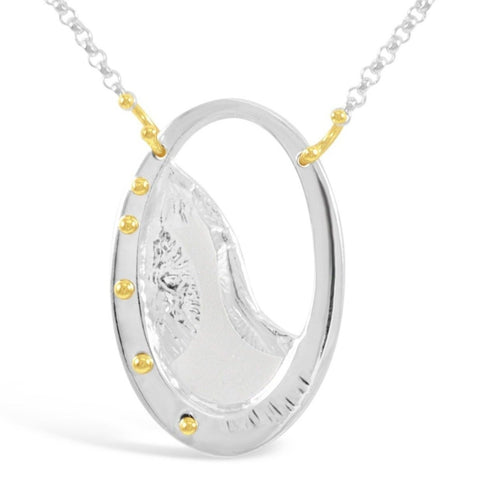 Shore Necklace_No Gemstones_18K Gold Granules_Kristen Baird®