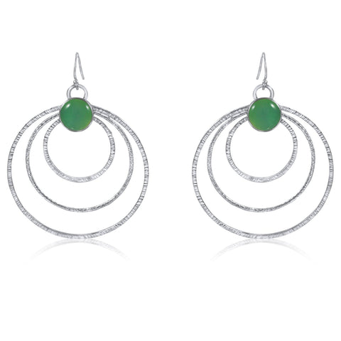 Solar Eclipse Earrings - Green - by Kristen Baird®