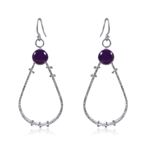 Supernova Earrings Large - Amethyst - by Kristen Baird® Jewelry