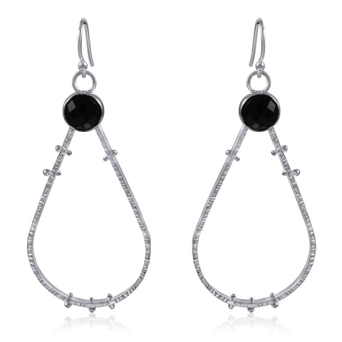 Supernova Earrings Large - Onyx - by Kristen Baird® Jewelry